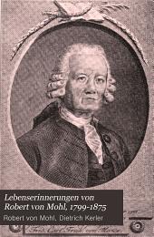 Lebenserinnerungen von Robert von Mohl, 1799-1875: mit dreizehn Bildnissen, Band 1