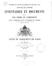 Actes du Parlement de Paris: 1299-1328