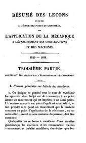 Résumé des leçons données à l'école des ponts et chaussées sur l'application de la mécanique à l'établissement des constructions et des machines: Leçons sur l'établissement des machines, Volume3