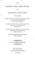The American museum or universal magazine PDF
