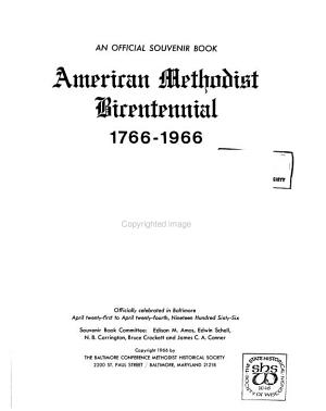 American Methodist Bicentennial, 1766-1966