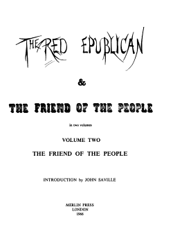 The Red Republican   The Friend of the People  The Friend of the people PDF