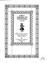 Early American Textbooks, 1775-1900