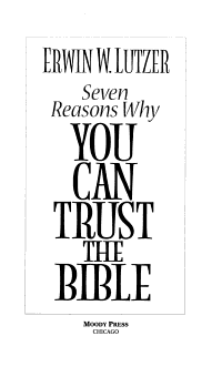Seven Reasons Why I Believe the Bible Is God s Word PDF