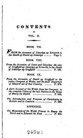 The History of Wales: In Nine Books, with an Appendix, Volume 2