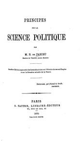Principles de la science politique