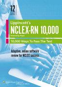 NCLEX RN 10 000 Printed Access Code   Powered by PrepU   LWW DocuCare One Year Access Book