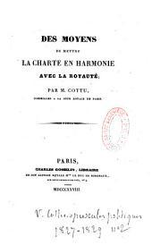 Moyens de mettre la Charte en harmonie avec la royauté