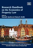 Research Handbook on the Economics of Property Law PDF
