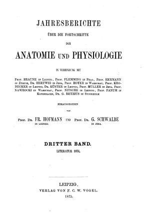 Jahresberichte uber die Fortschritte der Anatomie und Physiologie PDF