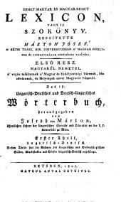 Ungarisch - Deutsches und Deutsch - Ungarisches Wörterbuch: Ungarisch - Deutsch, Band 1