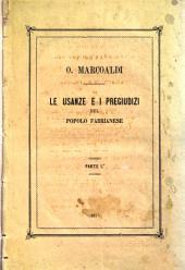 Le usanze e i pregiudizi del popolo fabrianese ...