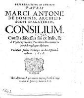 M. A. de Dominis ... suæ profectionis consilium exponit