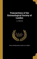 TRANSACTIONS OF THE ENTOMOLOGI