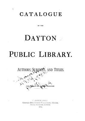 Catalogue of the Dayton Public Library PDF