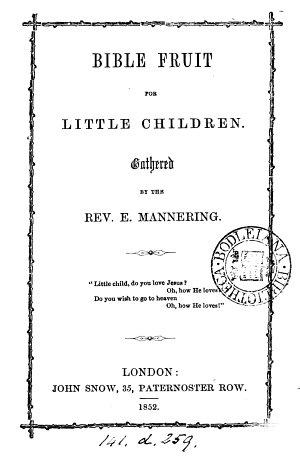 Bible Fruit for Little Children  etc