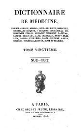 Dictionnaire de médecine: Volume20