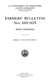 Farmers' Bulletin: Issues 1651-1675