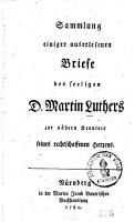 Sammlung einiger auserlesenen Briefe des seeligen D  Martin Luthers PDF