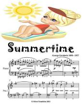 Summertime - Easy Piano Sheet Music Junior Edition