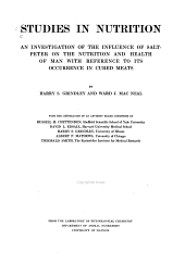 Studies in Nutrition: Discussion and interpretation of the biochemical data, by Harry S. Grindlay and Harold M. Mitchell. 1917