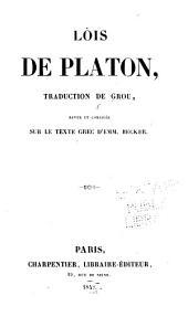 Dialogues biographiques et moraux de Platon: Volume5