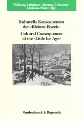 "Cultural consequences of the ""Little Ice Age"""