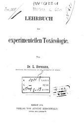 Lehrbuch der experimentellen Toxicologie