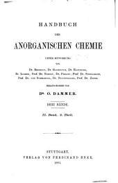 Handbuch der anorganischen chemie: Band 1,Teil 2