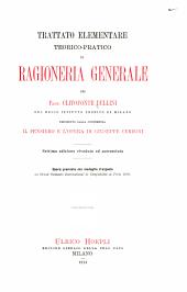 Trattato elementare teorico-pratico di ragioneria generale ...: preceduto dalla conferenza Il pensiero e l'opera di Giuseppe Cerboni