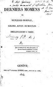 Derniers Momens de Duplessis-Mornay, Gigord, Rivet, Dumoulin, Drelincourt, et Rieu