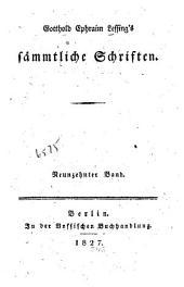 Gotthold Ephraim Lessing's sämmtliche Schriften: Bände 19-20