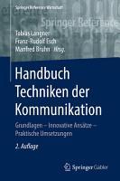 Handbuch Techniken der Kommunikation PDF