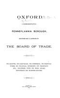 Oxford  a Representative Pennsylvania Borough PDF