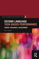 Second Language Task Based Performance PDF