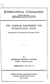 The Carnegie Endowment for International Peace