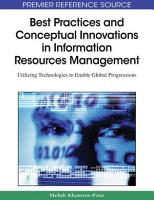 Best Practices and Conceptual Innovations in Information Resources Management  Utilizing Technologies to Enable Global Progressions PDF