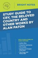 Study Guide to Cry  The Beloved Country and Other Works by Alan Paton PDF