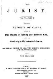 The Jurist ..: Volume 6, Part 1