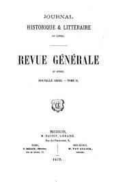 Revue générale: Volume16