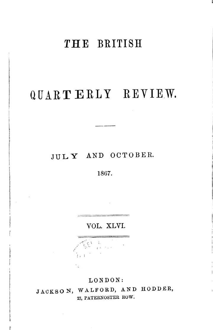 The British Quarterly Review