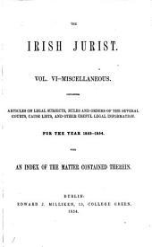 The Irish Jurist: Volume 6
