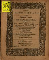 Theses de providentia Dei