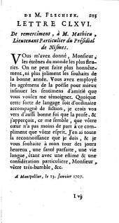 Lettres de Mr Fléchier ... sur divers sujets