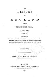 The History of England: The history of England: middle ages. In five volumes ... 3d ed