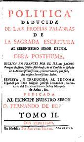 Política deducida de las propias palabras de la Sagrada Escritura al sereníssimo Delfin