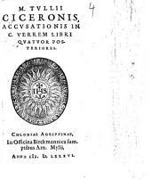 Accusationis in C. Verrem Libri Quatuor Posteriores