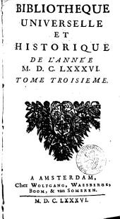 Bibliothèque universelle et historique: Volume3