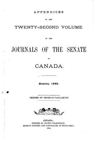 Journals of the Senate of Canada