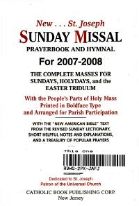 New St  Joseph Sunday Missal Prayerbook and Hymnal Book